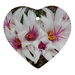 Bloom Cactus  Heart Ornament (two Sides) by ADIStyle