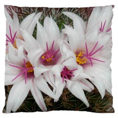 Bloom Cactus  Large Cushion Case (two Sides) by ADIStyle