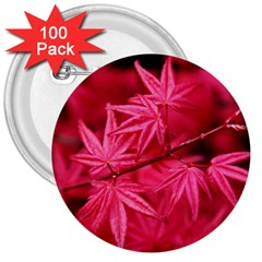 Red Autumn 3  Button (100 Pack) by ADIStyle