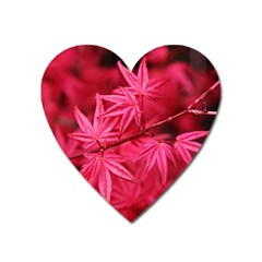 Red Autumn Magnet (heart) by ADIStyle