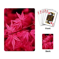 Red Autumn Playing Cards Single Design by ADIStyle