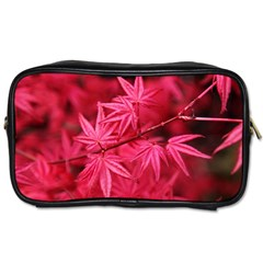 Red Autumn Travel Toiletry Bag (one Side) by ADIStyle