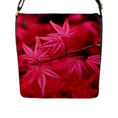 Red Autumn Flap Closure Messenger Bag (large) by ADIStyle