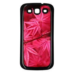 Red Autumn Samsung Galaxy S3 Back Case (black) by ADIStyle