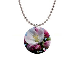 Apple Blossom  Button Necklace by ADIStyle