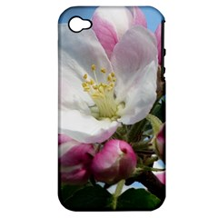 Apple Blossom  Apple Iphone 4/4s Hardshell Case (pc+silicone) by ADIStyle