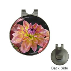 Dahlia Garden  Hat Clip With Golf Ball Marker by ADIStyle