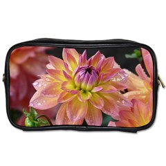 Dahlia Garden  Travel Toiletry Bag (two Sides) by ADIStyle