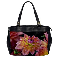 Dahlia Garden  Oversize Office Handbag (one Side)