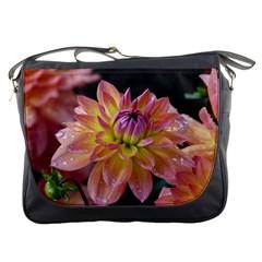 Dahlia Garden  Messenger Bag by ADIStyle