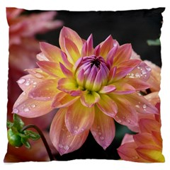 Dahlia Garden  Large Cushion Case (two Sides) by ADIStyle