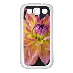 Dahlia Garden  Samsung Galaxy S3 Back Case (white) by ADIStyle
