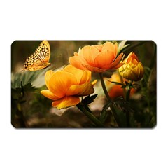 Flowers Butterfly Magnet (rectangular) by ADIStyle