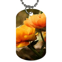 Flowers Butterfly Dog Tag (two Sided)  by ADIStyle