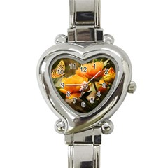 Flowers Butterfly Heart Italian Charm Watch  by ADIStyle