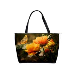 Flowers Butterfly Large Shoulder Bag by ADIStyle
