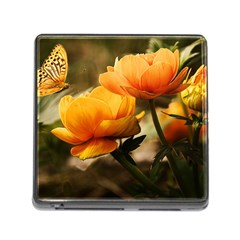 Flowers Butterfly Memory Card Reader With Storage (square) by ADIStyle