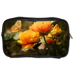 Flowers Butterfly Travel Toiletry Bag (two Sides) by ADIStyle