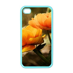 Flowers Butterfly Apple Iphone 4 Case (color) by ADIStyle