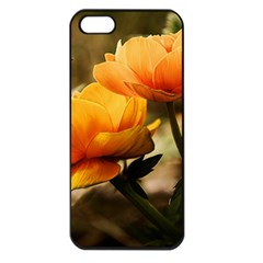 Flowers Butterfly Apple Iphone 5 Seamless Case (black) by ADIStyle