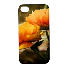 Flowers Butterfly Apple Iphone 4/4s Hardshell Case With Stand by ADIStyle