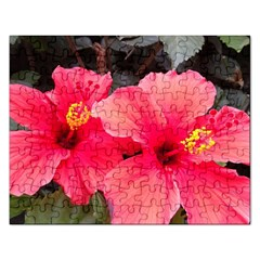 Red Hibiscus Jigsaw Puzzle (rectangle) by ADIStyle