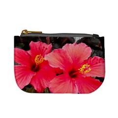 Red Hibiscus Coin Change Purse by ADIStyle