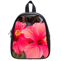 Red Hibiscus School Bag (small) by ADIStyle