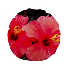 Red Hibiscus 15  Premium Round Cushion  by ADIStyle