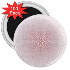 Elegant Damask 3  Button Magnet (100 Pack) by ADIStyle