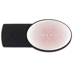 Elegant Damask 2gb Usb Flash Drive (oval) by ADIStyle