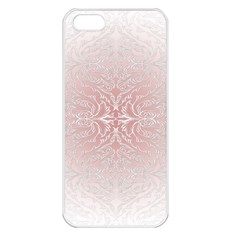 Elegant Damask Apple Iphone 5 Seamless Case (white) by ADIStyle