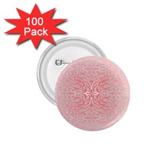 Pink Elegant Damask 1 75  Button (100 Pack) by ADIStyle