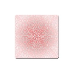 Pink Elegant Damask Magnet (square) by ADIStyle