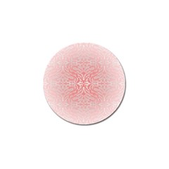 Pink Elegant Damask Golf Ball Marker 10 Pack by ADIStyle