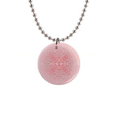 Pink Elegant Damask Button Necklace by ADIStyle