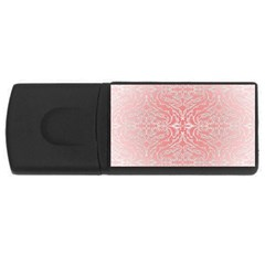 Pink Elegant Damask 4gb Usb Flash Drive (rectangle) by ADIStyle