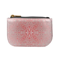 Pink Elegant Damask Coin Change Purse by ADIStyle