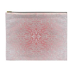 Pink Elegant Damask Cosmetic Bag (xl) by ADIStyle