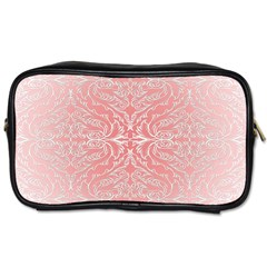 Pink Elegant Damask Travel Toiletry Bag (one Side) by ADIStyle