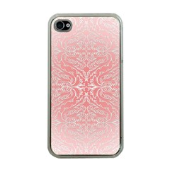 Pink Elegant Damask Apple Iphone 4 Case (clear) by ADIStyle