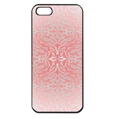 Pink Elegant Damask Apple Iphone 5 Seamless Case (black) by ADIStyle