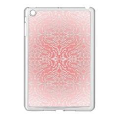 Pink Elegant Damask Apple Ipad Mini Case (white) by ADIStyle