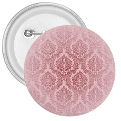 Luxury Pink Damask 3  Button by ADIStyle