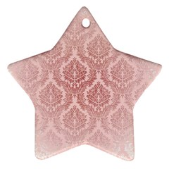 Luxury Pink Damask Star Ornament by ADIStyle