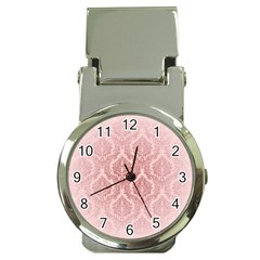 Luxury Pink Damask Money Clip With Watch by ADIStyle