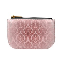 Luxury Pink Damask Coin Change Purse by ADIStyle