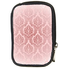 Luxury Pink Damask Compact Camera Leather Case by ADIStyle