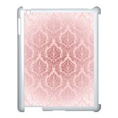 Luxury Pink Damask Apple Ipad 3/4 Case (white) by ADIStyle