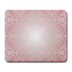 Pink Damask Large Mouse Pad (rectangle) by ADIStyle
